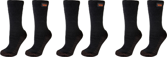 3 Pair 35° Below® Thermal Socks Black Socks